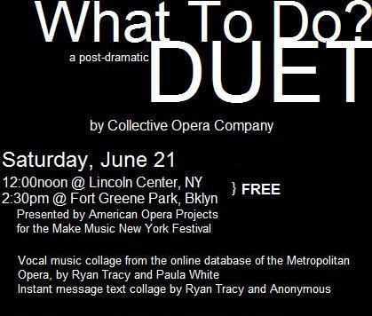 Collective Opera Company_What To Do